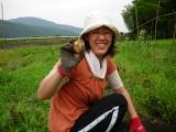 京都丹波の里はらだ自然農園代表の妻