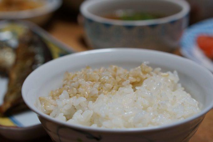 白米と分つき米の2色盛り